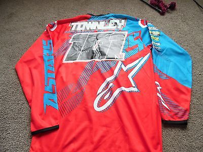Signed Ben Townley Alpinestars Motocross Jersey Large Excellant Condition.
