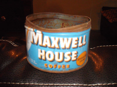 vintage maxwell house metal coffee can advertising