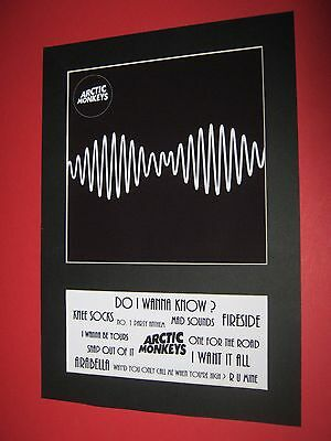 Arctic Monkeys Am  A4 Mounted Album Print (Win 3 4Th Free)