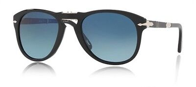 New Authentic PERSOL Polarized Steve McQueen 714 Folding Sunglasses Black 54mm