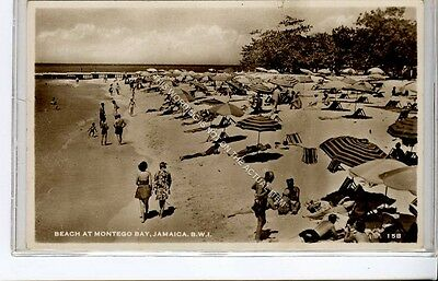 (Ga8661-477) Real Photo of Beach at Montego Bay, Jamaica BWI c1950 VG-EX