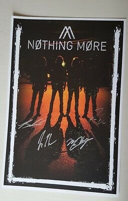 NOTHING MORE Autographed poster 2017 Tour 18 X 12 all 4 members