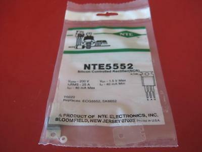 NTE5552 Silicon Controlled Rectifier (SCR) TRANSISTOR ( Qty 2 )  ** NEW **