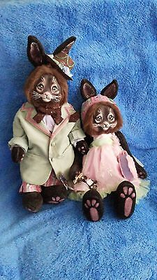 "OOAK ""Chocolate Bunnies"" by Shelly Lampshire"