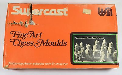 9 x SUPERCAST ORIGINAL LEWIS No 1 CHESS SET LATEX MOULDS MOLDS MOULDS IN BOX