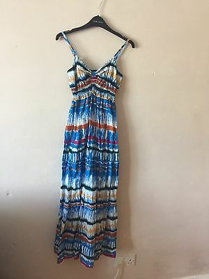 Brand New Ladies Patterned Maxi Dress Size M Women's 8/10