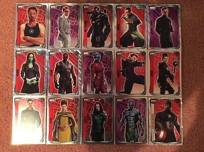 Topps Marvel Missions Trading Cards. - 15x All Different Foil Cards..