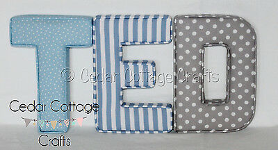 Fabric letters Wall Art Handmade Nursery name, personalised, girl, boy,padded