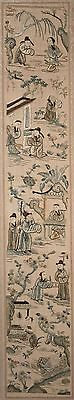 Antique Chinese Silk Embroidery, Telling of a Story, Phenomenal Work! FINE!