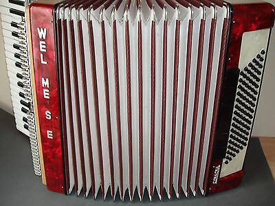 piano accordion weltmeister  consona 96 bass buttons. needs  work.