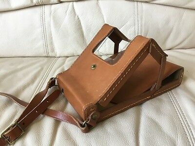 Genuine Polaroid Sx-70 Folding Leather Ever-Ready Case Excellent-Ships Today