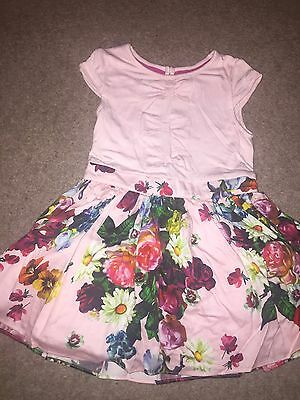 Baby Girls Floral Ted Baker Dress 9-12 Months