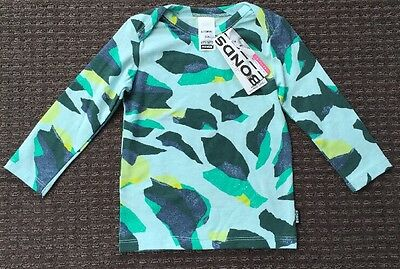 Bonds Baby Green Camouflage Long Sleeve Top Size 0 6-12 Mth BNWT New