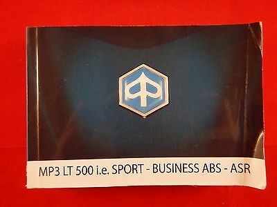 Piaggio Mp3 Lt 500 Ie Sport Business Abs Asr Owners Manual 2014 Handbook 2015