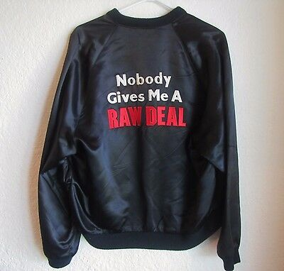 Raw Deal Arnold Schwarzenegger Official Movie Set Promo Satin Jacket Coat 80's