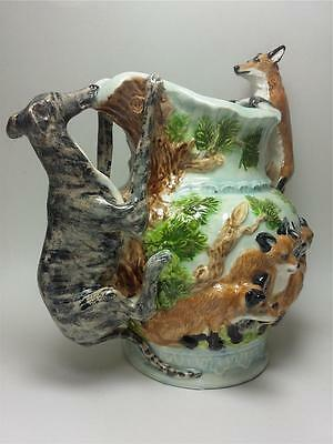 Greyhound Dog Red Fox Vase Pitcher Dogs Ceramic Sculpture Figurine Handmade OOAK