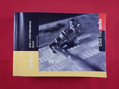 Aprilia Sr 50 Owners Manual Handbook Riders Book 2006 2007