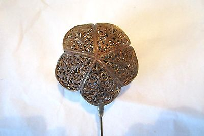 Beautiful Antique Large Ornate Metal Hatpin