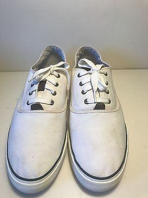 Mens White Off Canvas Lacoste Trainers Size UK 12/EU 47