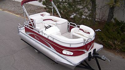 New 1670 RE Cruise pontoon boat with 20 four stroke Mercury and trailer