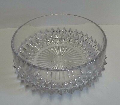 Vintage Crystal Cut Glass Tapered Trifle/Fruit/Salad Bowl 193mm wide
