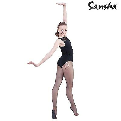 Collant Résille Danse galbants L/XL Fishnet tights SANCHA noir