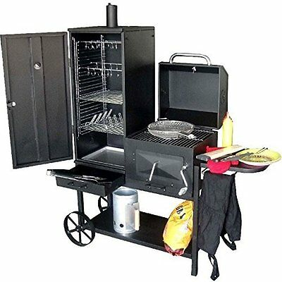 Professional BBQ Smoker Grill Cart Barbecue and Smoke. 45 kg Model 2016