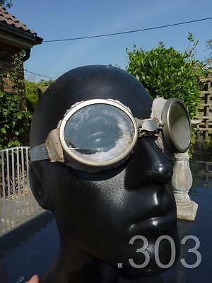 WWII Despatch Dispatch Rider's / Motorcycle Goggles