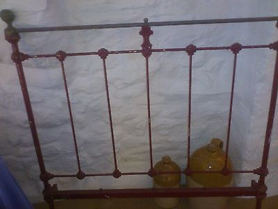 Antique wrought iron and brass bed for restoration
