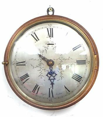 9 Inch Dial Wall Clock English Stepped Surround 8 Day Silver Dial Wall Clock