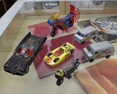 Corgi Vintage superhero cars, vans , bikes, Batman-Spiderman-Shazam,Superman