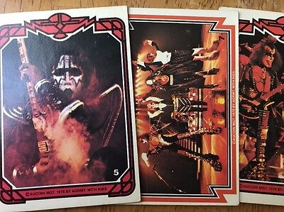 1978 KISS Series 16 Bubble Gum Trading Cards Lot