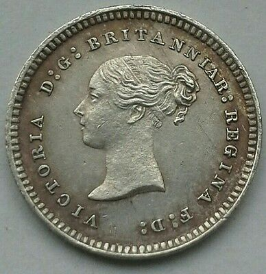 1880 Queen Victoria Maundy Twopence. High Grade.