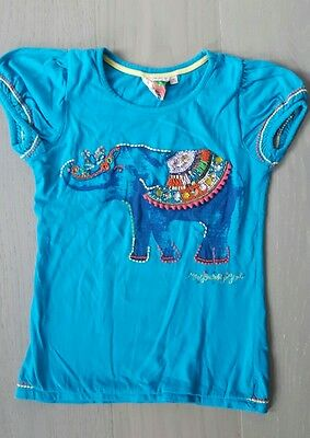 Turquoise shirt for 9/10 years old girl (with elephant )