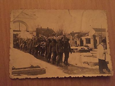 ORIGINAL WW2 obsequies German Solider PHOTOGRAPH OF A DEAD