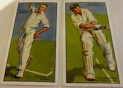 Trading Cards - 1930 Cricket Set of 50 - John Player Reproduction