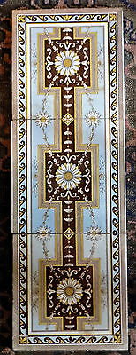 3 Tile Minton Panel Block Printed Aesthetic Design Pattern No 1995G Each 8In. Sq