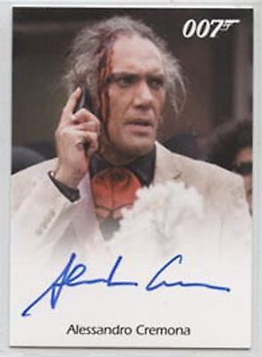 JAMES BOND ARCHIVES FINAL EDITION>ALESSANDRO CREMONA (full bleed) AUTOGRAPH CARD