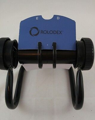 Rolodex Black Rotating Card File Holds Cards Office Organize FREE SHIPPING