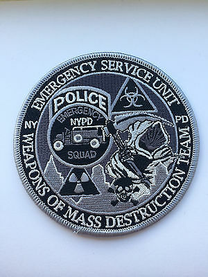 NYPD ESU Emergency Service Unit Weapons Of Mass Destruction Team Patch.(Subdued)