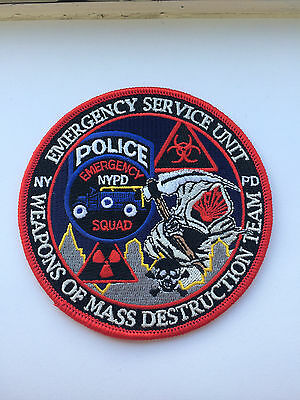 NYPD ESU Emergency Service Unit Weapons Of Mass Destruction Team Patch.