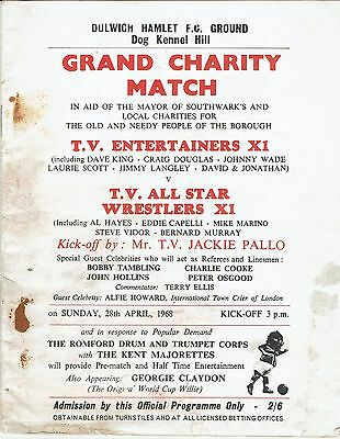 TV Entertainers XI v TV All Star Wrestlers XI - Charity Match - 1967/68