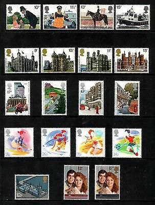 GB Six Sets 1970's and 1980's Superb MNH