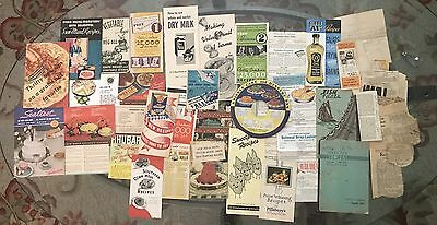 Vintage Recipe Booklets PAMPHLETS Handwritten & Newspaper Clippings ESTATE LOT