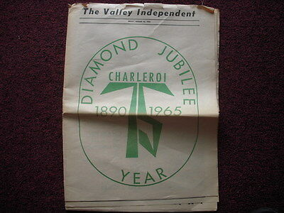 Charleroi, PA 1890-1965 Diamond Jubilee History in Valley Independent newspaper