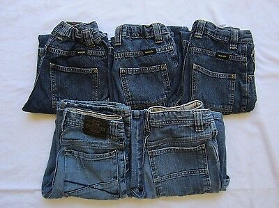 Boy's Size 12 Slim Jeans Lot of 5 Pairs Wrangler & Lee