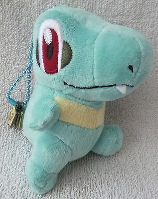Official Pokemon Center 2010 Walky Totodile Soft Plush Doll Toy Japan Charms 4""