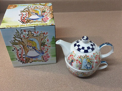 NEW! Paul Cardew Alice In Wonderland Tea for One Stackable Pot and Cup