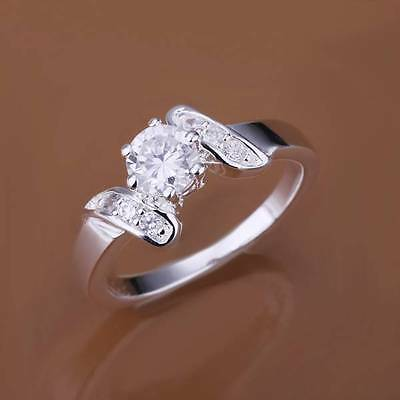 NEw Jewelry Men/Women 925sterling silver Ring Solid Ring Valentine Gift CR155 8#