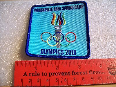 Canadian Girl Guides  Badge/Patch Wascapelle Area Spring Camp
